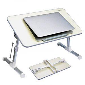 [2 ans Garantie] Avantree Table portable réglable de qualité, table de lit, bureau portatif de lit, Plateau de petit-déjeuner, support pour ordinateur portable - Minitable Beige de la marque image 0 produit