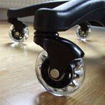 5x Roulettes Chaises de Bureau de BUROROLL – 63.5mm Roues souples en caoutchouc à tige Universelle de 11mm – Roulettes non-marquantes contre les sols dur et parquets – Noir de la marque image 1 produit