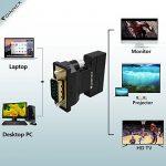 Adaptateur VGA vers HDMI avec audio, FOINNEX VGA HDMI Convertisseur Sortie AV 1080p pour TV, Ordinateur, Projecteur, Câble audio Câble Micro USB, Connecteur HD, Taille portable Plug and Play. de la marque FOINNEX image 2 produit
