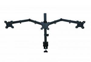 "AM23T Fully Adjustable Triple Arm LED LCD Desk Mount Bracket Stand Gaming Station for Three 16-27"" Screens with 45° Tilt, 180° Swivel & Height Level Adjustment (support de bureau pour moniteur) de la marque image 0 produit"