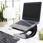 AmazonBasics Support d'ordinateur portable en aluminium Noir de la marque image 1 produit
