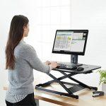 AmazonBasics Support réglable en hauteur pour poste de travail modulable type assis-debout de la marque image 1 produit