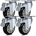 Antaprcis 4 Roulettes de Chaise 7,62 cm Pivotant Roues en Caoutchouc avec Frein Résistantes à l'Abrasion Noir de la marque image 1 produit