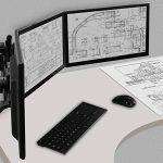 ARCTIC - Z3 Pro (EU) - Support triple de bureau pour écran plat - VESA 75 x 75 / 100x 100 - Orientable et Inclinable - Pour moniteurs et téléviseurs de 13 à 27 pouces (33cm à 69cm) - Comprend un hub à 4 ports USB avec bloc secteur de la marque image 4 produit