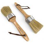 Arteza rond Craie Peinture et cire Brosse, conçue pour meubles, poils naturels de qualité professionnelle, Lot de 2 de la marque image 2 produit
