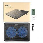 AUKEY Ventilateur PC Refroidisseur Ordinateur Portable 2 Ventilateurs LED Bleu 2 Ports USB et Supports Réglables PC Portable Jusqu'à 17 Pouces (CP-R3) de la marque AUKEY image 6 produit