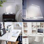 B-Right® Lampe de Bureau LED 5W, Lampe LED de Table avec 5V 3 Niveaux de Luminosité Ajustable Par Touche, Port USB de Recharge. Angle Réglable et Flexible à 360° (blanc et blanc chaud) de la marque image 4 produit