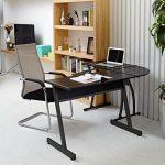 Bureau informatique Coin Coavas en forme de L Table portable en bois pour ordinateur Grand angle Station de travail pour domestique et bureau, noir de la marque image 1 produit