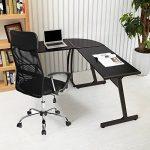 Bureau informatique Coin Coavas en forme de L Table portable en bois pour ordinateur Grand angle Station de travail pour domestique et bureau, noir de la marque image 2 produit