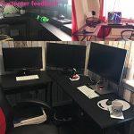 Bureau informatique Coin Coavas en forme de L Table portable en bois pour ordinateur Grand angle Station de travail pour domestique et bureau, noir de la marque image 6 produit