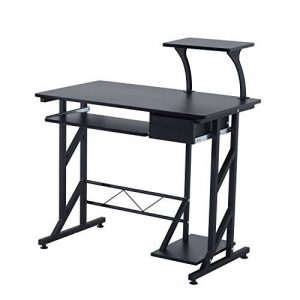 Bureau informatique design en mdf 90 l x 50 i x 95h cm noir 18bk de la marque image 0 produit