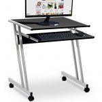 Bureau informatique meuble PC ordinateur Table Tiroir Rangement Noir Roulettes Chambre de la marque image 2 produit