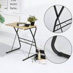 Bureau Ordinateur Table d'étude Ordinateur Robuste en bois avec des pieds en métal pour PC Ordinateur Portable Etudiants -Promo Fin D'Année- de la marque image 3 produit