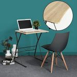 Bureau Ordinateur Table d'étude Ordinateur Robuste en bois avec des pieds en métal pour PC Ordinateur Portable Etudiants -Promo Fin D'Année- de la marque image 2 produit