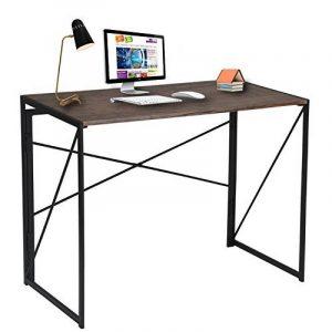 Bureau pour Ordinateur en Bois et Métal Large Surface (100x50x75 Cm) Simple Table pour Ordinateur pour Étude et Écriture - Marron de la marque image 0 produit