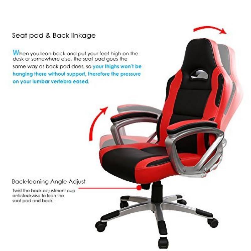 iwmh chaise ergonomique fauteuil de bureau professionnel avec accoudoirs 2d