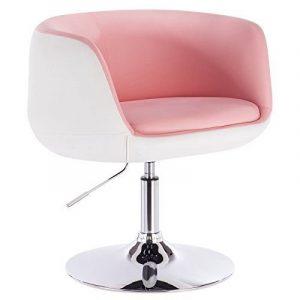 chaise de bureau couleur rose