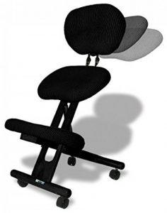 Chaise ergonomique Cinius professionnelle sans dossier couleur Noir de la marque image 0 produit