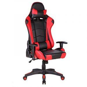 da1399ea526a0f Chaise rouge bureau - comment choisir les meilleurs en france TOP 3 image 0  produit. IWMH Racing Chaise De Bureau Siège Gaming De Luxe Fauteuil ...