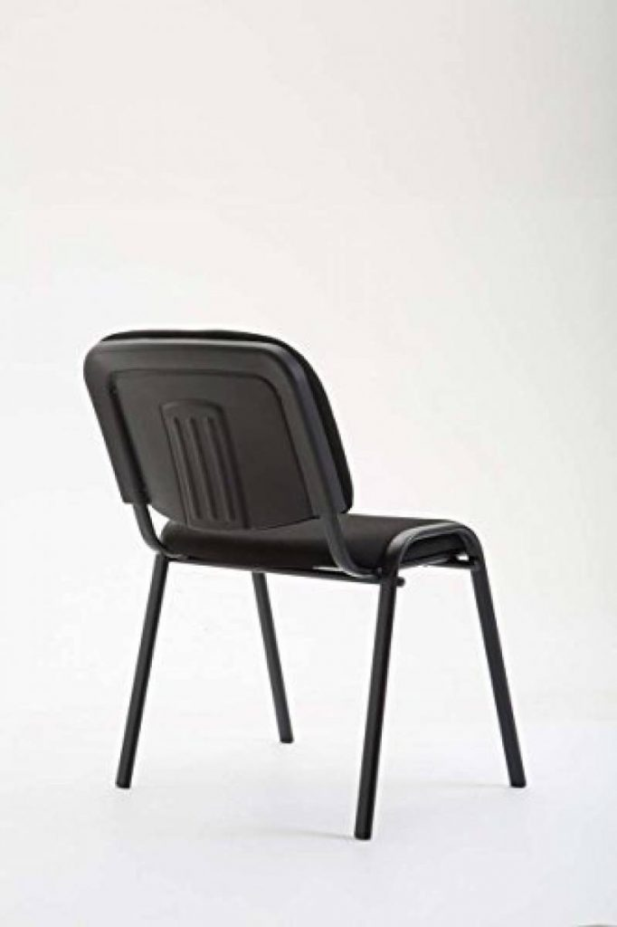 CLP Chaise De Visiteurs Empilable KEN Cout Abordable Robuste Structure Souple Et Tres Confortable Noir La Marque