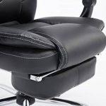 CLP Fauteuil bureau ergonomique CASTLE, fauteuil relax avec repose-pieds EXTENSIBLE et accoudoirs, poids admis 130 kg, réglable en hauteur 47 - 57 cm noir de la marque image 4 produit