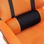 CLP Fauteuil de bureau ergonomique FELLOW, repose-pieds EXTENSIBLE, poids admis 115 kg, appui-tête, réglable en hauteur 47 - 57 cm, tissu résille gris de la marque image 5 produit