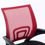 CLP Fauteuil de bureau GENIUS, siège de bureau, tissu à maille réspirant, siège pivotant et ajustable en hauteur, différentes couleurs disponible rouge de la marque image 4 produit
