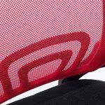 CLP Fauteuil de bureau GENIUS, siège de bureau, tissu à maille réspirant, siège pivotant et ajustable en hauteur, différentes couleurs disponible rouge de la marque image 5 produit