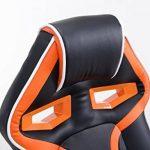 CLP Fauteuil de bureau racing SCHUMI en simili-cuir, chaise gaming, fauteuil de direction avec le mécanisme d'inclinaison, réglable en hauteur, poids admis max. 150 kg noir/orange de la marque image 4 produit