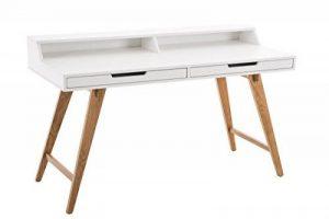 CLP Table de bureau EATON en MDF et bois de chêne, 2 tiroirs § 2 surfaces de travail, 2 tailles différentes 140 x 60 cm de la marque image 0 produit