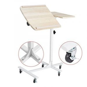 Coavas Table de Lit pour Ordinateur portable Réglable en Hauteur sur 5 Niveaux avec Roues - Couleur Hêtre de la marque coavas image 0 produit