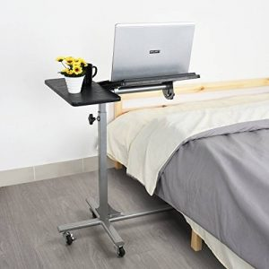 Coavas Table de Lit pour Ordinateur portable Réglable en Hauteur sur 5 Niveaux avec Roues - Noir de la marque coavas image 0 produit