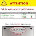 Coque MacBook Air 13 pouces,TECOOL [Ultra Mince Série] Plastique Mate Rigide Étui avec Housse de Clavier en Silicone pour MacBook Air 13.3 Modèle: A1466 and A1369 - Clair de la marque image 1 produit