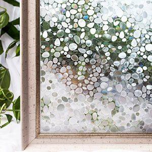 CottonColors Film Adhesif Decoratif pour Fenêtre 3D Statique Autocollant pour fenêtre Film pour Vitrage Film Occultant pour Accueil Cuisine Bureau Salle de bains 60CM x 200CM(2Ft X 6.5Ft) de la marque image 0 produit