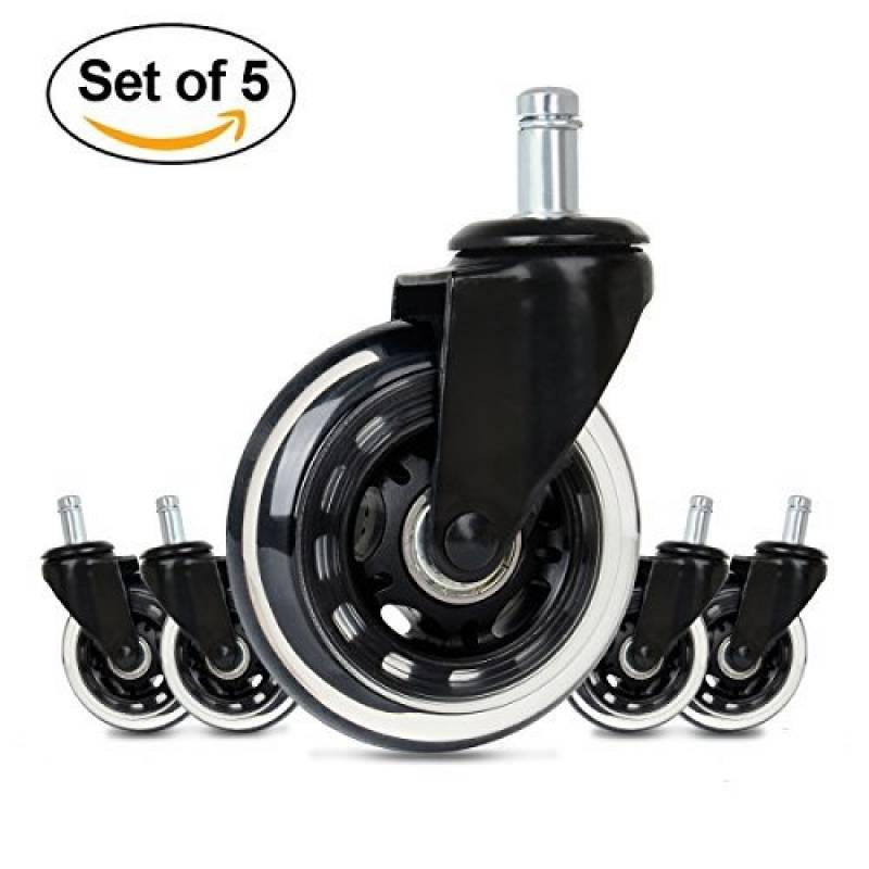 GHB 5pcs Roulettes Chaise Bureau Roulement Silencieux Et Rsistantes LAbrasion Dimension 11mm Gohappybuy