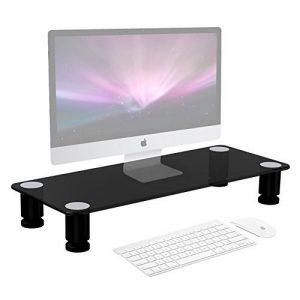 Duronic DM052-1 Réhausseur d'écran / Support en verre pour écran d'ordinateur ou ordinateur portable ou écran TV (56 x 24 cm) de la marque image 0 produit