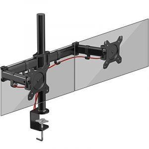 Duronic DM252 Support double pour 2 écrans d'ordinateur / deux moniteurs LCD / LED pour bureau - Gamme Steel de la marque Duronic image 0 produit