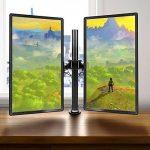 Duronic DM252 Support double pour 2 écrans d'ordinateur / deux moniteurs LCD / LED pour bureau - Gamme Steel de la marque Duronic image 1 produit