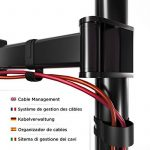 Duronic DM252 Support double pour 2 écrans d'ordinateur / deux moniteurs LCD / LED pour bureau - Gamme Steel de la marque Duronic image 4 produit