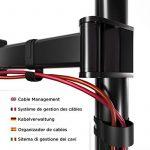Duronic DM252 Support double pour 2 écrans d'ordinateur / deux moniteurs LCD / LED pour bureau - Gamme Steel de la marque image 4 produit