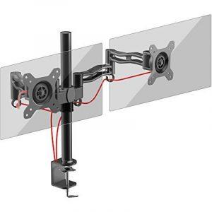 Duronic DM352 Support double pour 2 écrans d'ordinateur / deux moniteurs LCD / LED pour bureau – Gamme Easy de la marque Duronic image 0 produit