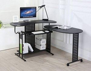 Table de bureau en forme de l sièges buro direct armoires de