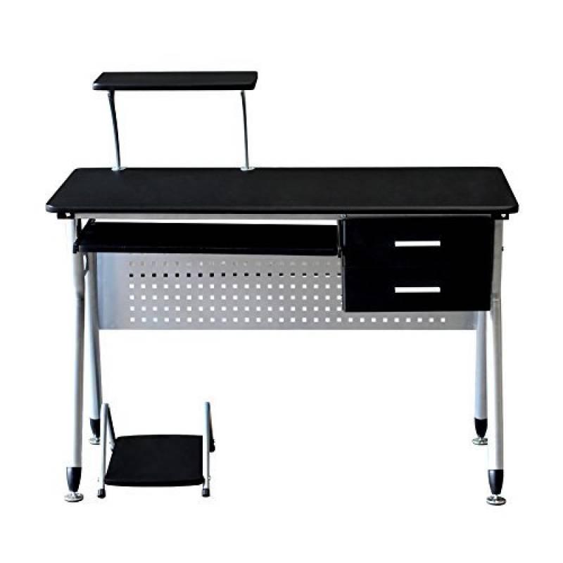 Bureau avec tablette coulissante pour clavier simple tablette pour bureau etagare pour bureau - Bureau avec grand tiroir ...