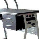 EBS Table de Bureau Meuble pour Ordinateur avec Support Clavier Coulissant & Tablette Imprimante (Noir) de la marque image 6 produit