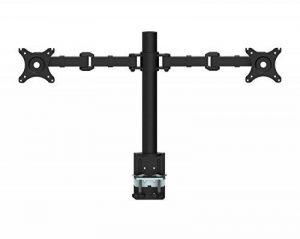 """ENGINEER Dual Monitor LCD Desk Mount Stand - Heavy Duty entièrement réglable Ordinateur de bureau Double bras de moniteur Convient deux écrans jusqu'à 30 """"VESA de la marque image 0 produit"""