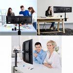 """ENGINEER Dual Monitor LCD Desk Mount Stand - Heavy Duty entièrement réglable Ordinateur de bureau Double bras de moniteur Convient deux écrans jusqu'à 30 """"VESA de la marque image 2 produit"""