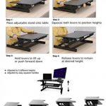 ER sain Sit-Stand Workstation Ordinateur de bureau | Réglable en hauteur permanent bureau | Montée et descente de dessus de table à divers postes pour ergonomique Comfort (Blanc) de la marque image 6 produit