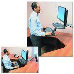 Ergotron WorkFit-A Support pour TV/Ordinateur Portable/Tablette/Ecran PC Noir de la marque Ergotron image 1 produit