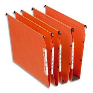 Esselte Lot de 25 Dossiers Suspendus Armoires Dual Fond 15 mm - Kraft Orange de la marque image 0 produit