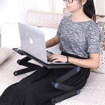 Etpark Ordinateur Tablette, Aluminium Réglable Table de lit Pliable pour PC Support Pliant avec Tapis de souris Noir de la marque image 2 produit